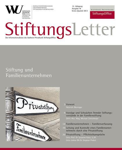 Aktuelle stiftungsrechtliche Judikatur